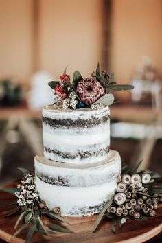 A semi-naked cake and native flowers – better together! A semi-naked cake and native flowers – better together! Fall Wedding Cakes, Wedding Cake Rustic, Rustic Cake, Beautiful Wedding Cakes, Wedding Cake Designs, Wedding Ideas, Vegan Wedding Cakes, Rustic Victorian Wedding, Wedding Cupcakes