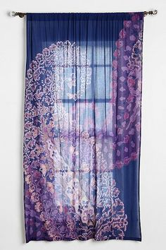 Magical Thinking Fire Paisley Curtain
