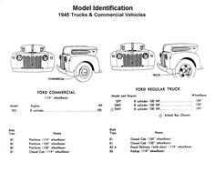 Flathead Model ID 1945 Trucks