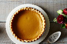 A 25-minute caramelized pumpkin pie with real milk and cream. This is and forever will be our go-to pumpkin pie.