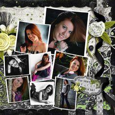 Digital Scrapbook Page, Senior Portraits - 2 page layout
