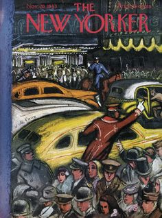 The New Yorker - Saturday, November 20, 1943 - Issue # 979 - Vol. 19 - N° 40 - Cover by : Victor De Pauw