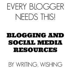Blogging Resources via @Alison Hobbs Lee   Amazing tips, tutorials and links to things every blogger needs.