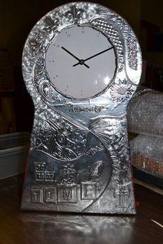 metalized clock - 10 second studios