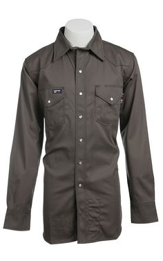 b3676f213354 Lapco Grey Flame Resistant Workshirt IGR7WSX- Big   Tall. Work Shirts ...