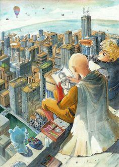 One Punch Man - One Piece Man Wallpaper - One Punch Man Papel de Parede - One Punch Man Wallpaper para Celular - One Punch Man Manga - One Punch Man Personagens - One Punch Man Desenho Saitama One Punch Man, Anime One Punch Man, One Punch Man 3, One Punch Man Funny, Opm Manga, Manga Anime, Anime Art, Genos Wallpaper, Man Wallpaper