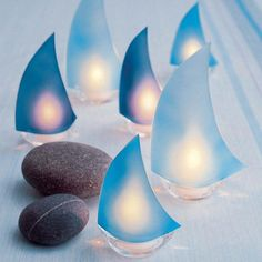 beach grass — Glass Sailboat Votives