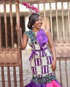 Image may contain: 1 person, standing, stripes and text African Inspired Fashion, Latest African Fashion Dresses, African Dresses For Women, African Print Dresses, African Print Fashion, African Attire, African Wear, African Lace, African Prints