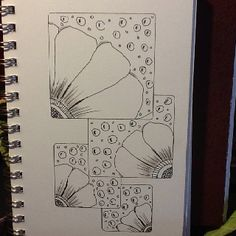 Zentangle Flowers. Something simple