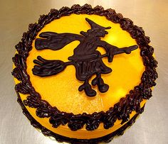 Halloween Chocolate Witch Cake by Tony Albanese