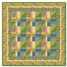 Magic Carpet Ride Wallhanging Quilt Kit by Homespun Hearth