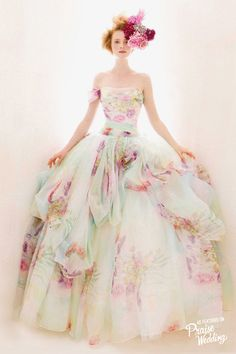 Atelier Aimee watercolor gown