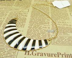 Fashion Zebra Stripe Drip Short Necklace