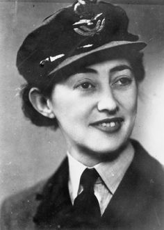 """Yvonne Cormeau (1909–1997) joined the SOE in WWII after her husband died when their house in London was bombed. She was the second female radio operator to be sent to France. She continued to operate, despite being confronted by """"wanted"""" posters in her neighbourhood which gave an accurate sketch of her appearance. She talked her way out of arrest by pretending she was a nurse and her wireless was an X-ray machine. She was shot in the leg by a German patrol, but managed to escape."""