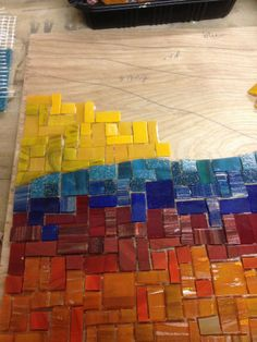 Mosaic work-in-progress by Phoenix Handcraft