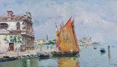 Antonio María Reyna Manescau - Venice on Flickr.[Museo CarmenThyssen, Málaga - Oil on canvas on board, 28.8 x 49.5cm]