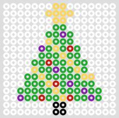 Hama bead christmas tree for maxi or midi.