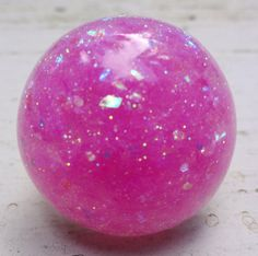 Bubblegum Pink Barbie Resin Ring Bright Pink Opal by GlitterFusion