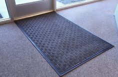 Turn Style 3'x5' Doorway Entrance Mat Entryway Flooring Rug by Incstores. $51.05. Designed to be used indoors and outdoors in moderate to heavy traffic. Weight - 13 Lbs. / door mat. Features a raised rib pattern that scrapes dirt and debris off shoes. Retains excess moisture. Thickness - 1/4 Inch Size - 3' x 5' mats are available. Our Turn Style entrance mats have been designed for both indoor and outdoor use and are perfect for areas with moderate to heavy traffic....