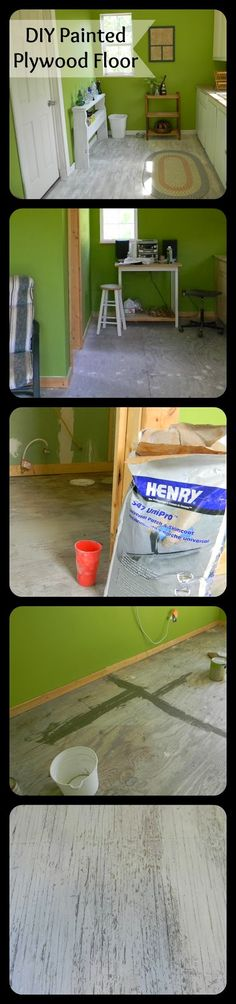 Sweatsville: DIY Painted Plywood Floor upstairs loft