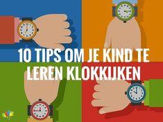 10 tips om je kind te leren klokkijken Primary School, Pre School, Math Clock, School Info, Math Classroom, Classroom Ideas, Home Schooling, School Hacks, Teaching Math