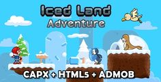 Iced Land Adventure . Iced Land Adventure is adventure platform games like ice climber retro game, on HTML5, android and ios. If you enjoy platform games you shouldn't miss this.Easy to pick up and play thanks to simple controls. Journey through beautifuly designed levels, try to find all coin and key and defeat