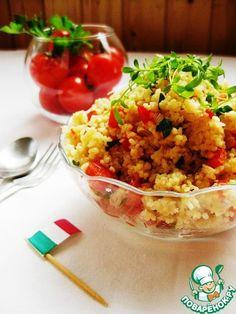 Салат из кускуса с тунцом - кулинарный рецепт