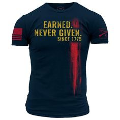 Earned Never Given – Grunt Style Grunt Style, Marine Mom, Marine Corps, My T Shirt, Tee Shirts, New Outfits, Cool Outfits, Crossfit Clothes, Shirt Makeover