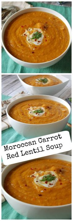 Moroccan Carrot Red Lentil Soup: hearty, flavorful, & a great winter soup