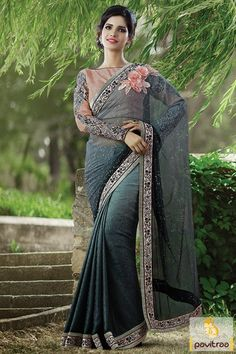 Sarees Online: Shop the latest Indian Sarees at the best price online shopping. From classic to contemporary, daily wear to party wear saree, Cbazaar has saree for every occasion. Bollywood Sarees Online, Sarees Online India, Silk Sarees Online, Latest Indian Saree, Sari Dress, Indian Party Wear, Latest Designer Sarees, Georgette Sarees, Lehenga Choli