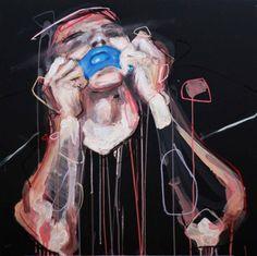 "Saatchi Online Artist Lou ROS; Painting, ""19h36 ( SOLD )"" #art"