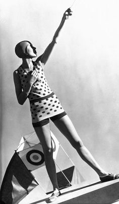 Swimwear by Lanvin Hoyningen-Huene produced Vogue's advertising campaigns for the 1929-1930 ladies swimwear collections.