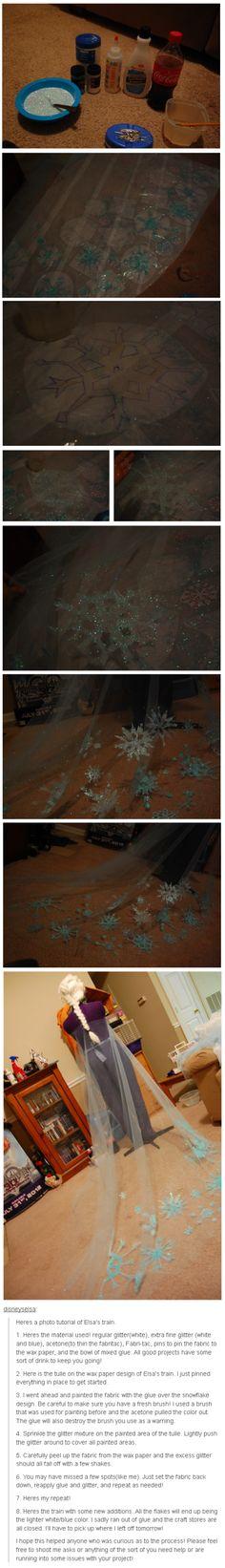 Tutorial for Elsa's train from Frozen!
