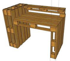 Pallet Desk Drawing Plans custom yours with us today!