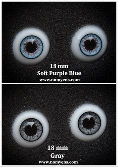 ::. 𝐃𝗼𝐥𝐥 𝐞𝐲𝐞 .:: • Soft Purple Blue : 18 mm • Gray : 18 mm www.nomyens.com #bjd #abjd #balljointdoll #dollofstargram #instadoll #dollstargram #toy #paint #painting #painted #repaint #handmade #nomyens #nomyensfaceup #bjdeye #bjdeyes #dolleyes #dolleye #dolleyecaft Star G, Soft Purple, Doll Eyes, Ball Jointed Dolls, Bjd, Cosmetics, Gray, Handmade, Painting