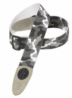 """Levy's Leathers 2 Cotton Guitar Strap,Arctic Camouflage by Levy's Leathers. $15.66. Levy's Signature Series cotton guitar strap with suede ends and tri-glide adjustment. 2""""-wide and adjustable up to 54""""."""