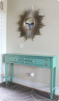 Table Redo for $12 - Holla!   My Best Tips on How to Spray Paint Furniture