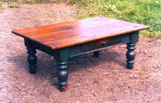 Farmhouse coffee table by Furnacebrook on Etsy, $875.00