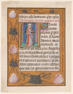 Manuscript Leaf with Saint James the Greater, from a Book of Hours   South Netherlandish   The Metropolitan Museum of Art