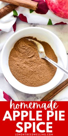 The BEST homemade Apple Pie Spice! This delicious blend of 5 fall spices is easy to make so much better than store bought! Easy Desserts, Delicious Desserts, Dessert Recipes, Yummy Food, Making Apple Pie, Apple Pie Spice, Apple Recipes, Fall Recipes, Yummy Recipes
