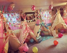 Kids birthday teepee not for sell examples of ideas play tent childrens teepee teepee tent kids tent playhouse Teepee Party, Kids Teepee Tent, Teepees, Sleepover Birthday Parties, Girl Sleepover, Tent Parties, Childrens Teepee, Party Time, Party Fun