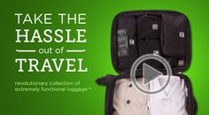 Genius Pack -- carry on luggage with extreme organization