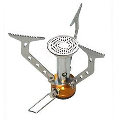 Mewshop Stainless Steel Camping Picnic Cooking Gas Stove Outdoor Activity -- Check out the image by visiting the link.