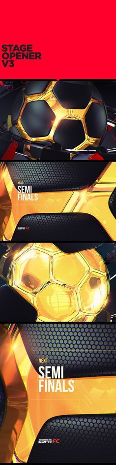 ESPN WORLD CUP SHOWPACK on Behance  Sports design and broadcast motion graphics
