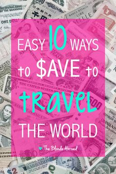 "The most common question I get to date is ""How do you afford to travel so much?"" My life has changed a lot since becoming a professional travel blogger, but my early travels were afforded by smart spending and strategic saving."
