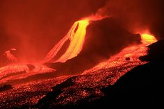 Lava flow at night--Wim Malfait