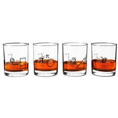 MATH GLASSES - SET OF 4