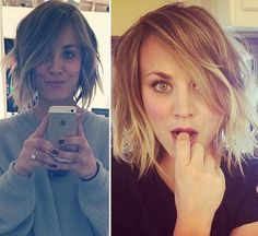 Kaley Cuoco%u2019s Trendy New Short Hair %u2014 Love Or Loathe?�Vote