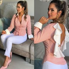 Classy Outfits, Casual Outfits, Cute Outfits, Fashion Drawing Dresses, Fashion Dresses, Look Fashion, Girl Fashion, Fashion Design, Blouse Styles