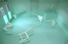 Kyung Woo Han water sculpture optical illusion installation